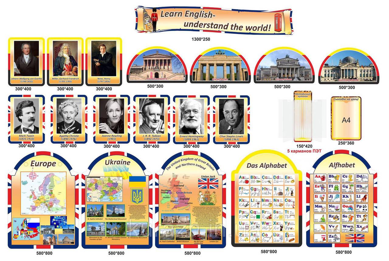 Шкільні стенди для кабінету англійської мови