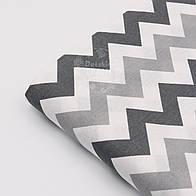 Отрез ткани №595а  с серыми и графитовыми зигзагами, размер 65*160