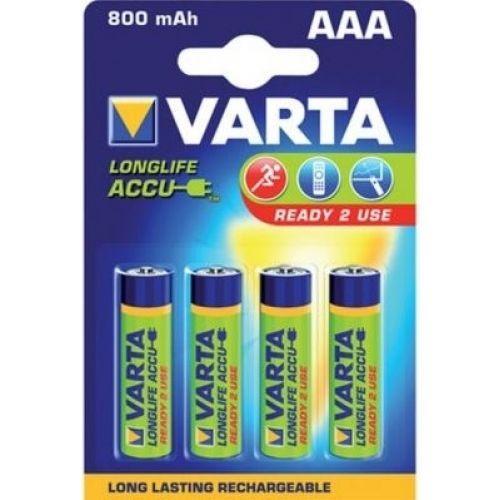 4шт Аккумулятор мизинчик Varta AAA 800 mAh
