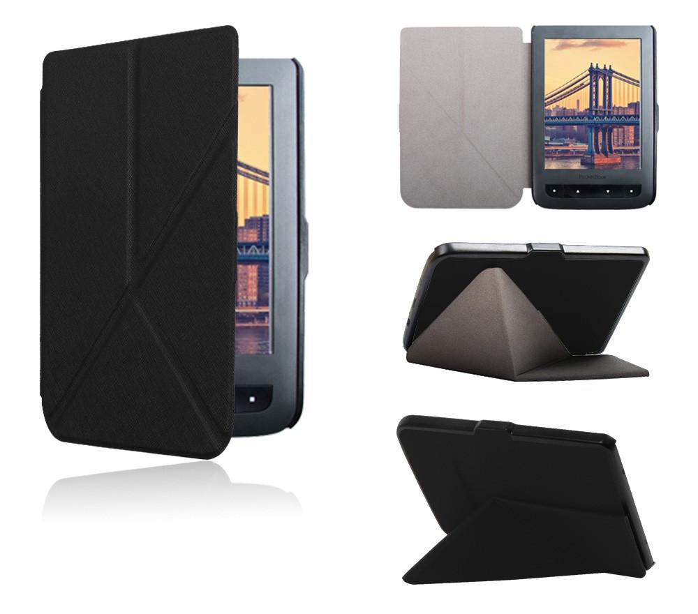 Обложка PocketBook 614/615/624/625/626 plus/ Touch Lux 3 полиуретановая черная - чехол для электронной книги