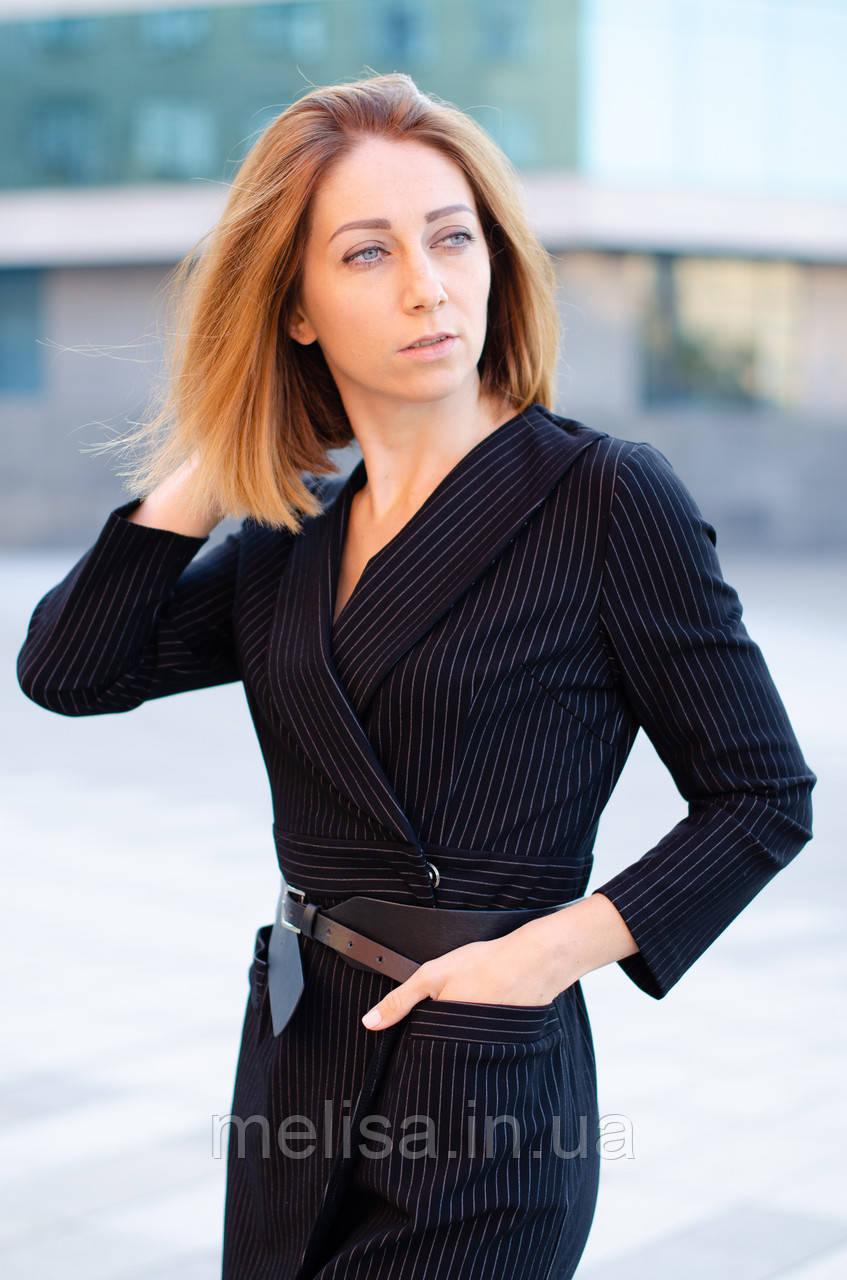 77333486fb9539e Черное платье с запахом - Интернет магазин женской одежды Melisa в Харькове