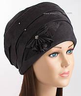 Зимняя женская шапка Дели черного цвета