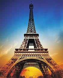 """Картина на стекле """"Эйфелева башня """""""