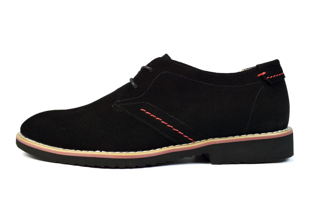Черные мужские замшевые туфли EGUZA