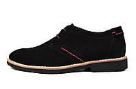 Черные мужские замшевые туфли EGUZA , фото 1
