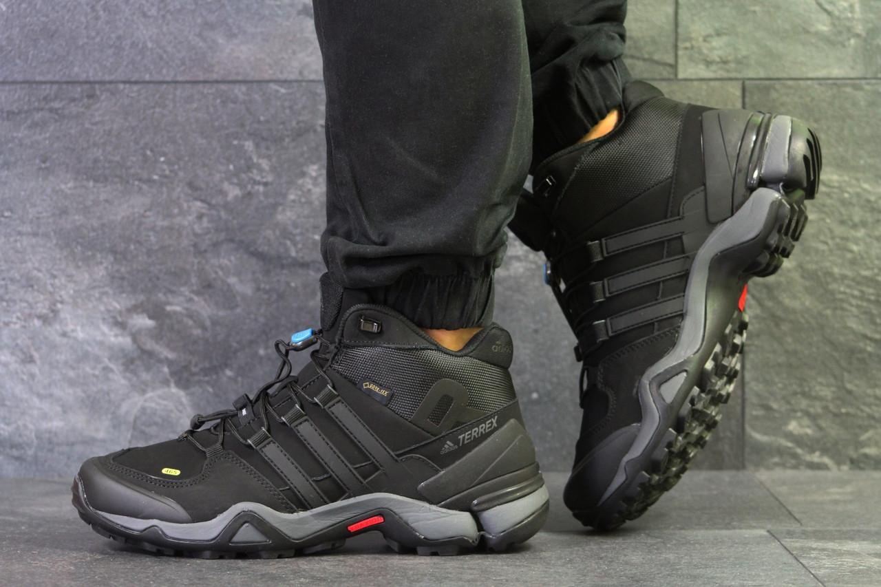 Кроссовки в стиле Adidas Terrex Ortholite (черные с серым) термо кроссовки код товара 6292