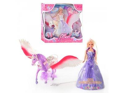 """Кукла """"Барби"""" Jinni"""" 83114 волшебная палочка, лошадь с крыльями, расчесска, обувь, аксессуары"""