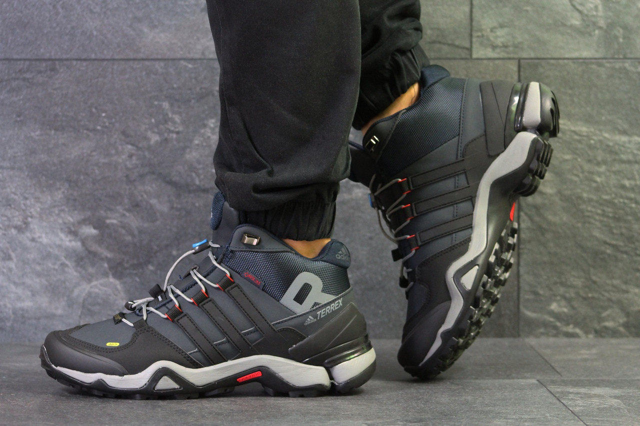 Кроссовки в стиле Adidas Terrex Ortholite (темно синие с серым) термо кроссовки код товара 6294