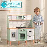 Детская кухня Mid-Century Modern KidKraft 53432 с системой легкого сбора EZ Kraft Assembly, фото 1