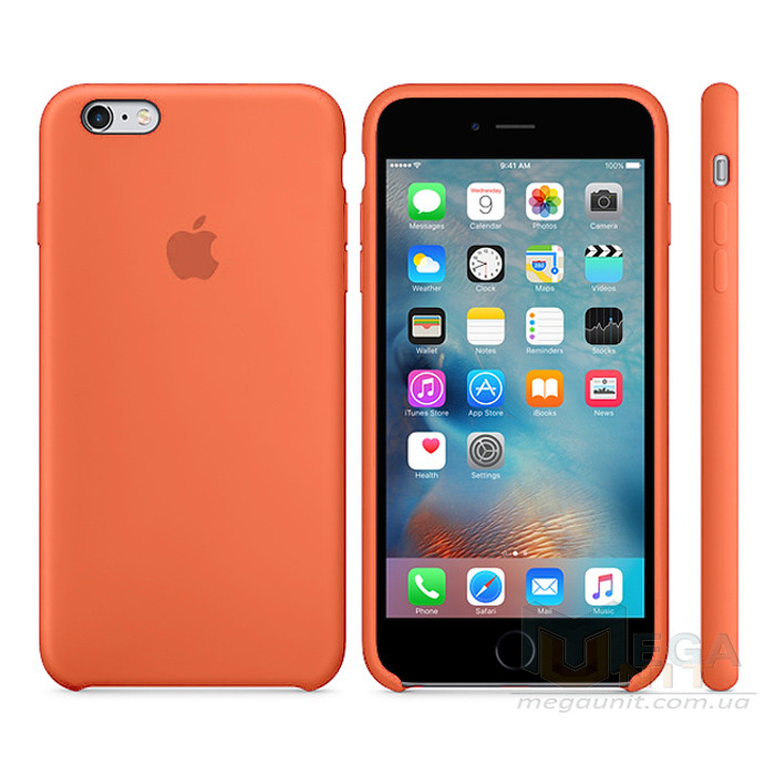 Чехол Soft Silicone Case для Apple iPhone 6/6S Оранжевый