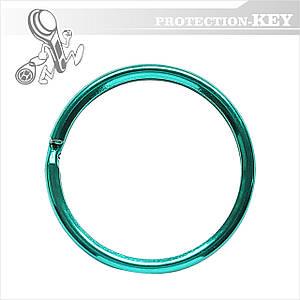 Кольцо для ключей заводное Ø 30 мм (зеленый цвет)