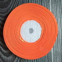 Атласная лента Оранжевая 9 мм 35 м