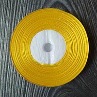 Атласная лента Желтая 9 мм 35 м
