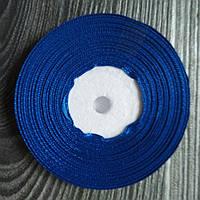 Атласная лента Синяя 9 мм 35 м