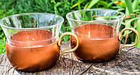 Коллекционный подстаканник со стаканом, Медь,бронза, Пара, Германия, #S/V