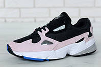 """Кроссовки женские Adidas Falcon Black/Pink """"Черно-розовые"""" р. 36-40, фото 1"""
