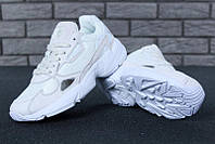 """Кроссовки женские Adidas Falcon White """"Белые"""" р. 36-40, фото 1"""