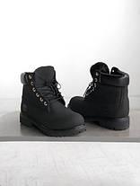 Мужские ботинки Timberland Fur Black (С натуральным мехом), фото 3