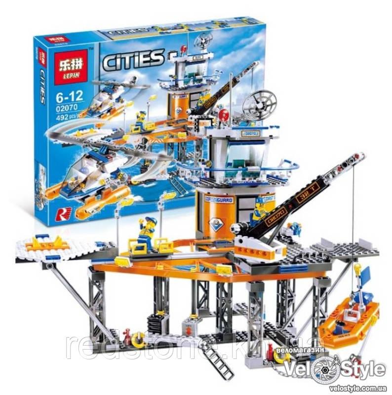 """Конструктор Lepin 02070 (Lego City 4210) """"Платформа береговой охраны"""", 492 дет."""