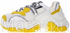 Женские кроссовки Nº21 Billy Sneakers White/Yellow белые