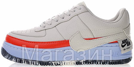 Женские кроссовки Nike Air Force Jester XX SE Light Bone Найк Аир Форс низкие, фото 2