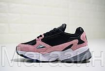 Женские кроссовки adidas Falcon Black/Pink Адидас черные с розовым, фото 3