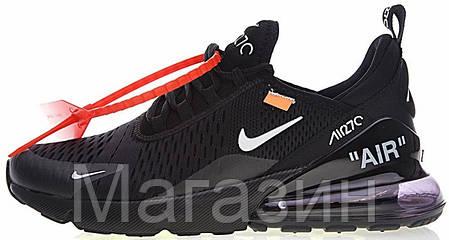 Мужские кроссовки Nike Air Max 270 Off White Black Найк Аир Макс 270 ОФФ Вайт черные, фото 2