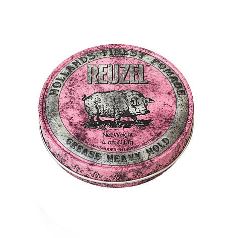 Воск Reuzel Pink Grease Heavy Hold Pomade 113 г, фото 2