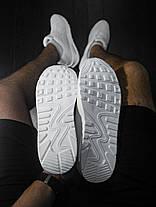 Кроссовки мужские Nike Air Max 90 белые топ реплика, фото 3