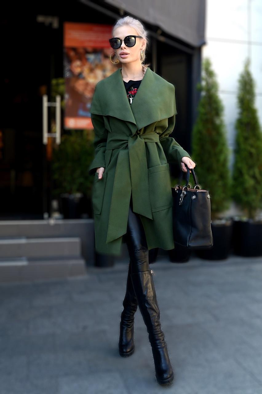 Пальто с заниженной проймой и карманами «Японка»