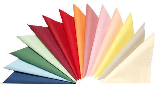 Салфетка 45*45 см  ткань гладь (51% хлопок), разного цвета
