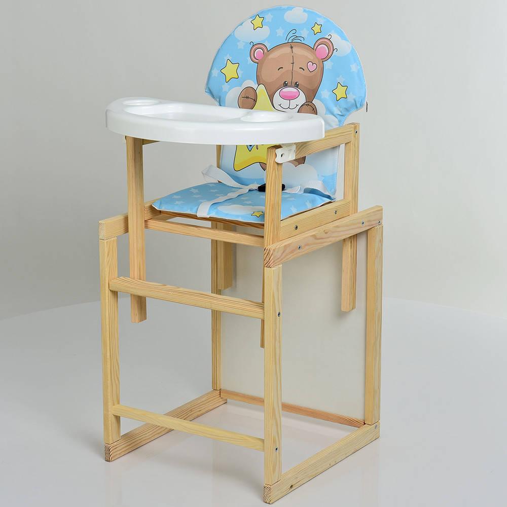Стульчик для кормления деревяный BAMBI М V-102-8PU Мишка ***