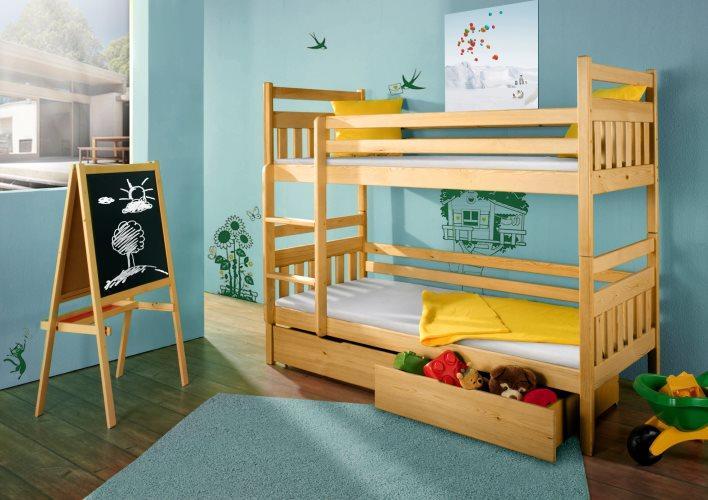"""Двухъярусная кровать """"Династи"""" из массива"""