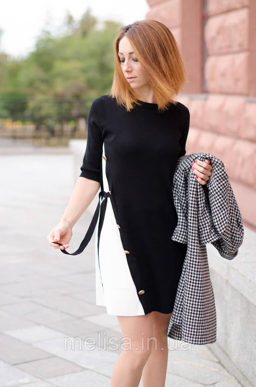 119964dd762 Черное трикотажное платье - Интернет магазин женской одежды Melisa в  Харькове