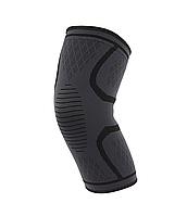 Компрессионная защитная повязка на коленный сустав «Sport Heavy» черно-серая средней степени сжатия (1 шт)