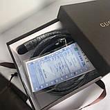Ремінь Гуччі чорний з сріблом, 3.4 см унісекс, пояс, натуральна шкіра, фото 2