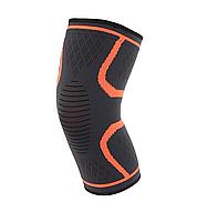 Компрессионная защитная повязка на коленный сустав «Sport Heavy» оранжевая средней степени сжатия (1 шт)