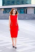 Женское красное коктейльное платье