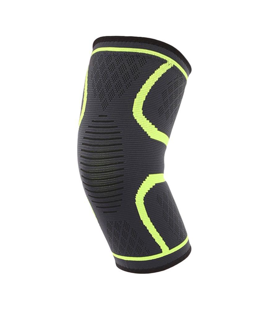 Компрессионная защитная повязка на коленный сустав «Sport Heavy» зелёная средней степени сжатия (1 шт)