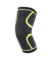 Компрессионная защитная повязка на коленный сустав «Sport Heavy» зелёная средней степени сжатия (1 шт), фото 1