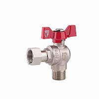 SD FORTE Кран шаровой угловой с накидной гайкой для воды 1/2в х 1/2н   SF224W15
