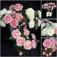 Букет интерьерных роз, разные цвета, 11 веток., выс. 48 см., 165/145 (цена за 1 шт. + 20 гр.)