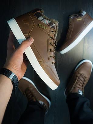 Кроссовки винтажные мужские коричневые с белой подошвой, фото 2