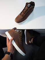Кроссовки винтажные мужские коричневые с белой подошвой, фото 3