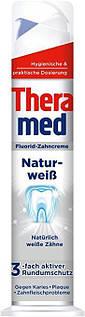 """Зубна паста """"Theramed Naturweiß"""" (відбілююча) з дозатором 100 ml"""