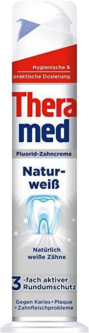 """Зубная паста """"Theramed Naturweiß"""" (отбеливающая) с дозатором 100 ml"""