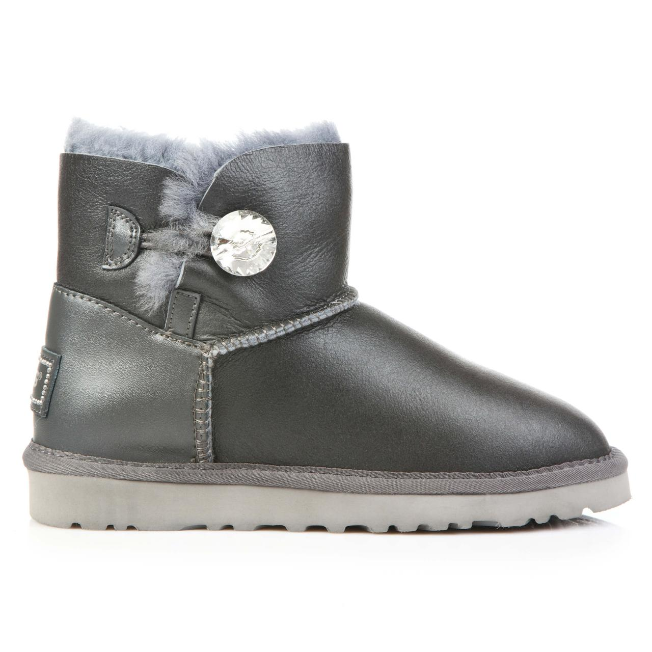 Угги UGG Australia Bailey Button Mini Swarovski Metallic Grey