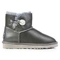 Угги UGG Australia Bailey Button Mini Swarovski Metallic Grey, фото 1