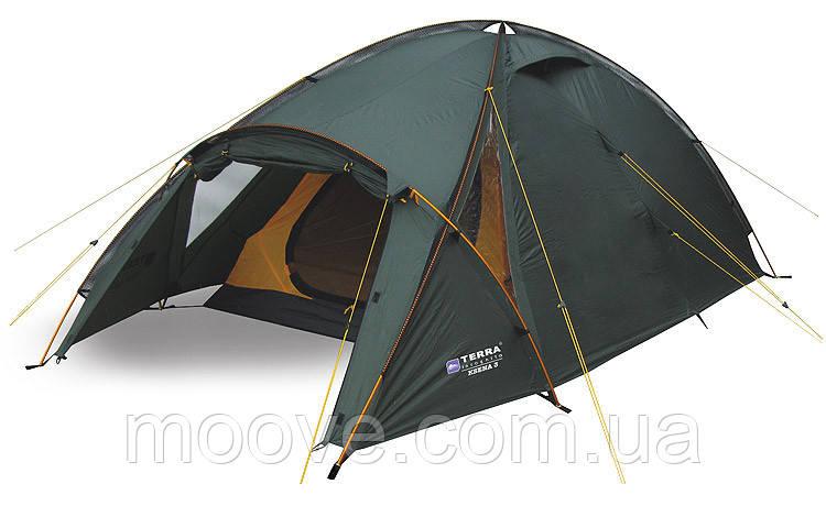 Палатка Terra Incognita трехместная Ksena 3 зеленая