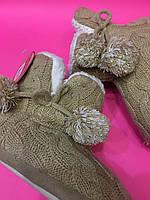 Домашние тапочки на девочку сапожки Gemelli Italian brand,Мягкие на резиновой подошве 22,5см,23,5см 23см